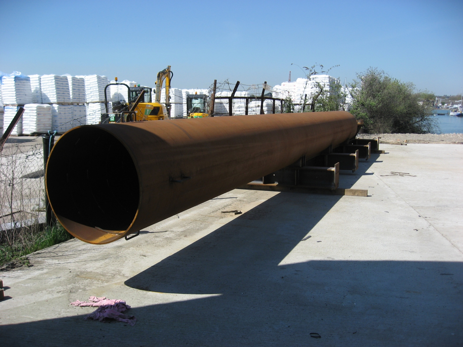 2.-Pile-Pipe-waiting-to-be-blasted
